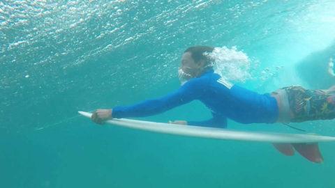 duckdive surf come tagliare onda